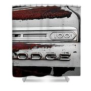 Rust Dodge 6 Selective Color Shower Curtain
