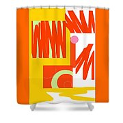 Rust Gold 1 Shower Curtain
