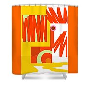 Rust Gold 2 Shower Curtain