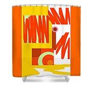 Rust Gold 3 Shower Curtain