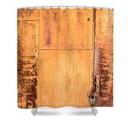Rust On Metal Texture Shower Curtain