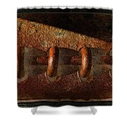 Rust Rings Shower Curtain