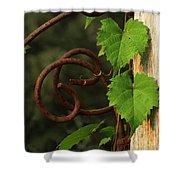 Rust Vine Shower Curtain