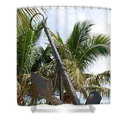 Rusted Anchor Shower Curtain
