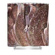 Rusted Blades Shower Curtain