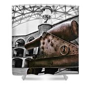 Rusted Cannon Shower Curtain