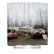 Rusted Gold Shower Curtain