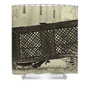 Rusted Horse Drawn Paddy Wagon Shower Curtain