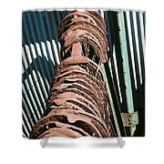 Rusted Horseshoes Shower Curtain