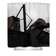 Rusted Metal Face Shower Curtain