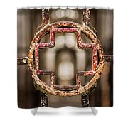 Rusted Prison Gate Shower Curtain