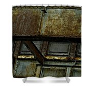 Rusted Steel Support Structure Shower Curtain