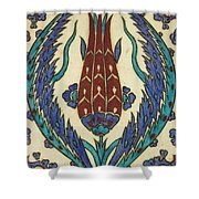Rusten Pasha Tulip Tile Shower Curtain