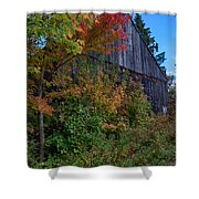 Rustic Barn Above The Fall Colors Shower Curtain