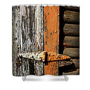 Rustic Barn Hinge Shower Curtain