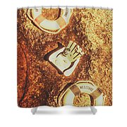 Rustic Beach Decorations  Shower Curtain