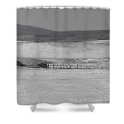 Rustic Cabin In The Snow Shower Curtain