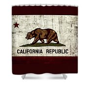 Rustic California State Flag Design Shower Curtain