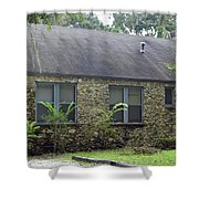 Rustic Chert Home Shower Curtain