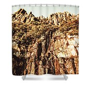 Rustic Cliff Spring Shower Curtain