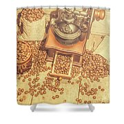 Rustic Country Coffee House Still Shower Curtain