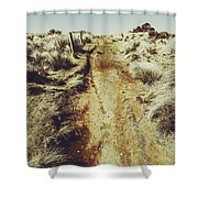 Rustic Country Trails Shower Curtain