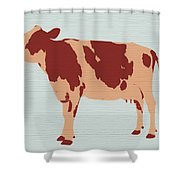 Rustic Cow Shower Curtain