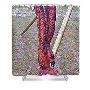 Rustic Eagle 2 Shower Curtain