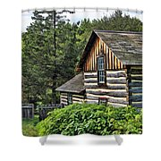 Rustic Farmhouse At Old World Wisconsin Shower Curtain