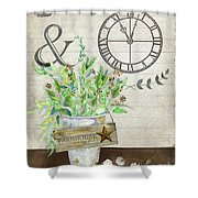 Rustic Farmhouse Our Happy Place Shower Curtain