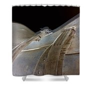 Rustic Horse Saddle Shower Curtain