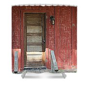 Rustic In Red Shower Curtain