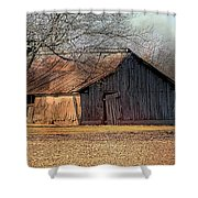 Rustic Midwest Barn Shower Curtain