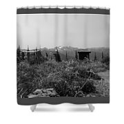 Rustic Montana View Shower Curtain