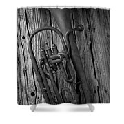 Rustic Old Horn Shower Curtain