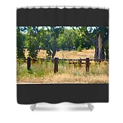 Rustic Painting Shower Curtain