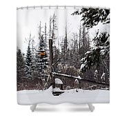Rustic Property Marker Shower Curtain
