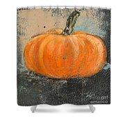 Rustic Pumpkin Shower Curtain