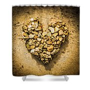 Rustic Rock Romance Shower Curtain