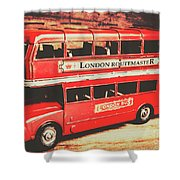 Rustic Routemaster Shower Curtain