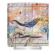 Rustic Seahorse Shower Curtain