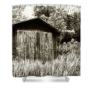 Rustic Shed Shower Curtain by Perry Webster