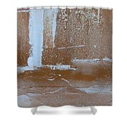 Rustic Snow Shower Curtain