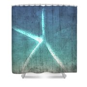 Rustic Starfish Shower Curtain