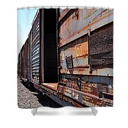 Rustic Train Shower Curtain