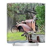 Rustic Truck Shower Curtain