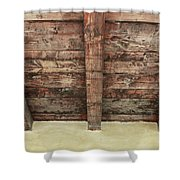 Rustic Wood Beams Shower Curtain