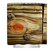 Rustic Wood Shower Curtain