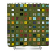 Rustic Wooden Abstract Lx Shower Curtain