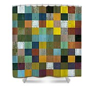 Rustic Wooden Abstract Tower Shower Curtain